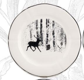Gien - Chambord Dessert Plates - Stag collection with 1 products