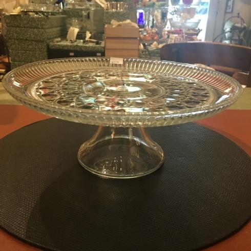 $225.00 Vintage Cut Glass Cake Stand