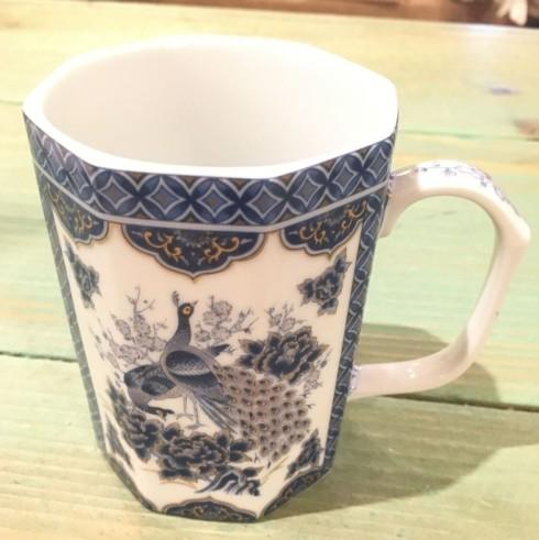 $16.50 Peacock Blue/Gold Mug