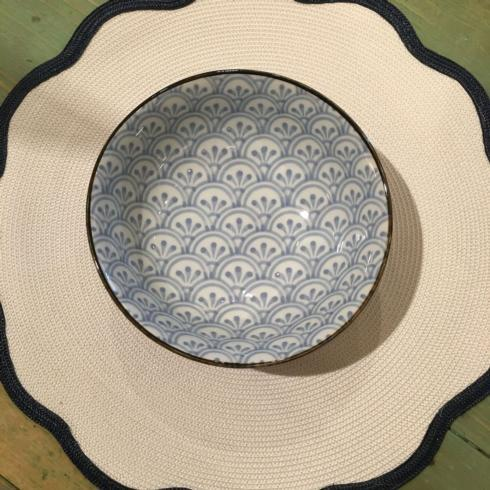 """$22.50 Blue and White 7.5"""" Bowl"""