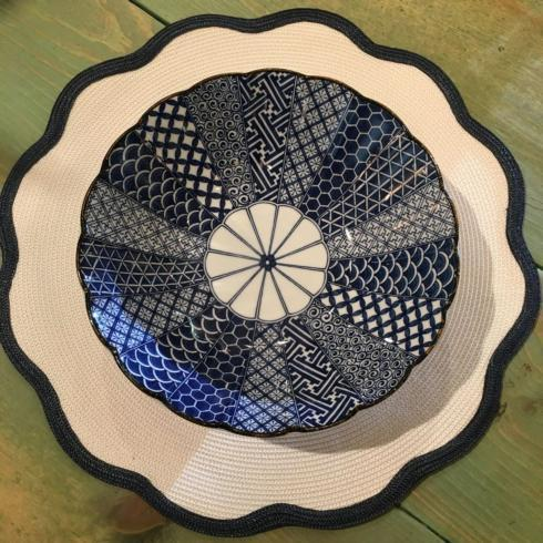 "$27.50 Blue and White 10"" Bowl"