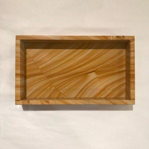 $90.00 Faux Bois Marble Vanity Tray/Napkin Holder