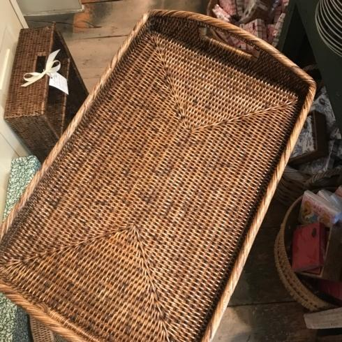 William-Wayne & Co. Exclusives   Rectangle Rattan Tray $140.00