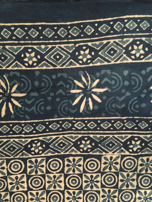 Indian Throw/Tablecloth Blue and White Mosaic collection with 1 products