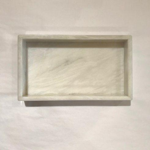 White Marble Vanity Tray/Napkin Holder collection with 1 products