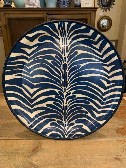 Blue Zebra Hand Painted Tole Tray collection with 1 products