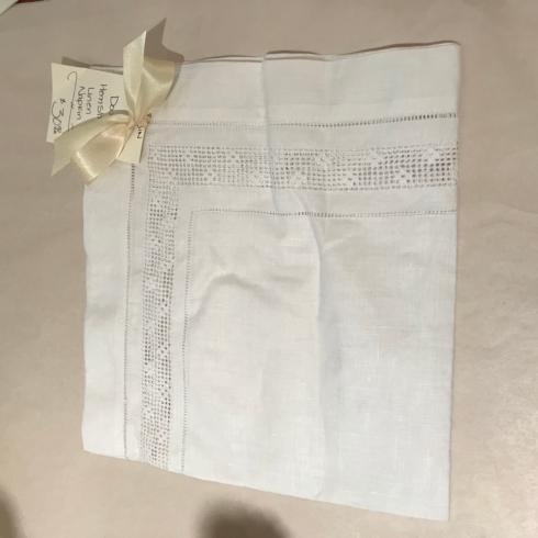 $30.00 White Double Hem Stitch Linen Napkin