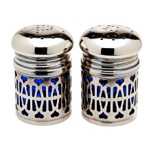 William-Wayne & Co. Exclusives   Cobalt and Silver Salt and Pepper $37.50