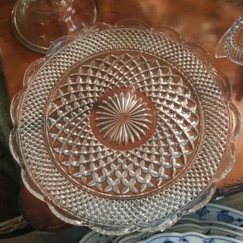 Cut Glass Large Platter