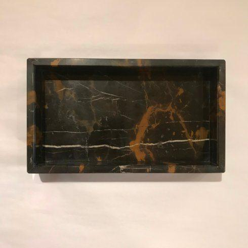 Black & Brown Marble Vanity Tray/Napkin Holder collection with 1 products