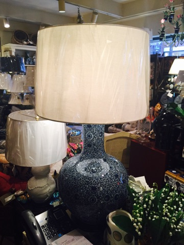William-Wayne & Co. Exclusives   Large Blue And White Lamp $675.00