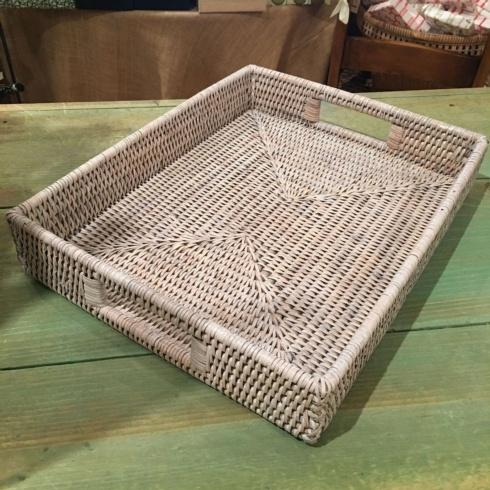 Medium Rattan Tray collection with 1 products