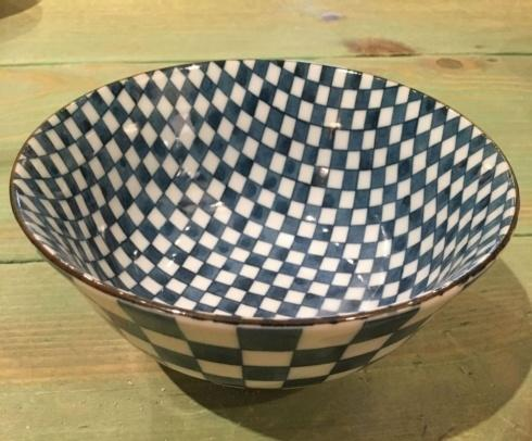 $16.50 Blue and White Japanese Checkered Bowl.