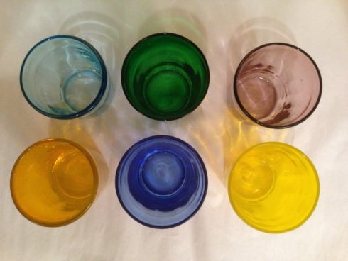 William-Wayne & Co. Exclusives   Set of 6 Assorted Italian Colored Glasses $150.00