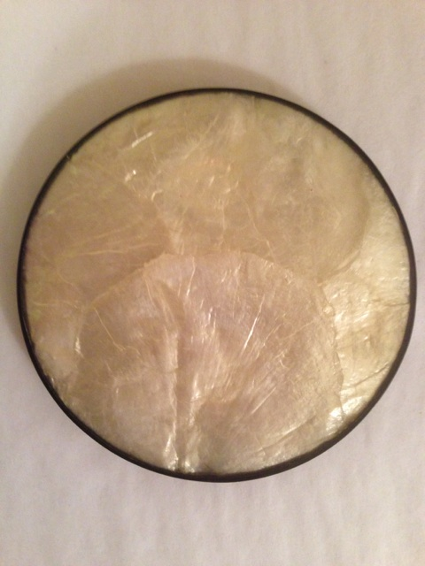 William-Wayne & Co. Exclusives   Mother of Pearl Coaster with Black Rim $16.75