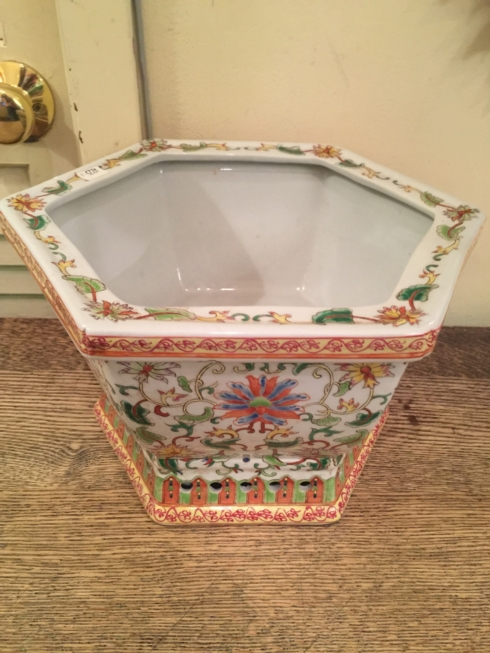 William-Wayne & Co. Exclusives   Hexagonal Floral Planter $225.00