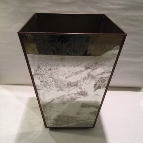 $225.00 Plain Mirror Wastebasket