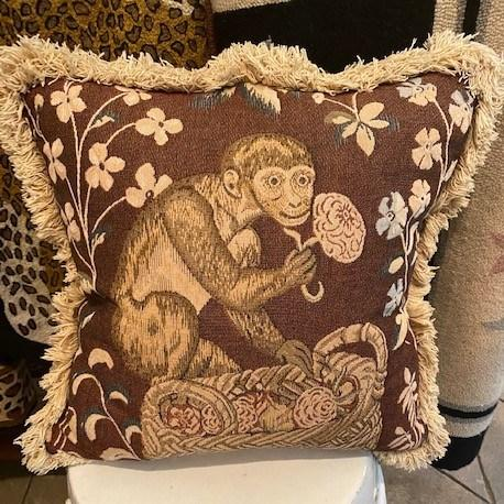 $695.00 Vintage Monkey Pillow