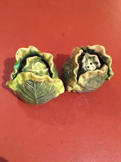 $30.00 Cabbage Salt and Pepper Shakers