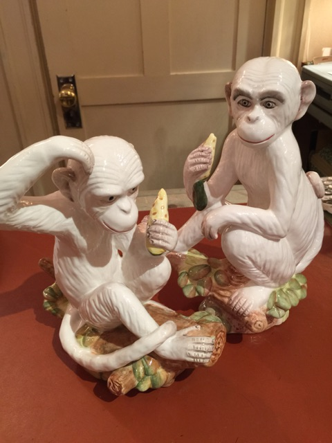 William-Wayne & Co. Exclusives   White Monkey with corn $80.00