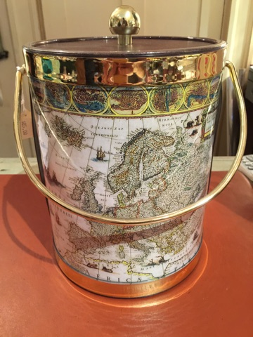 William-Wayne & Co. Exclusives   Map Ice Bucket $85.00