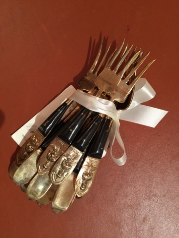 William-Wayne & Co. Exclusives   Set of 12 Horn and Bone Forks $275.00