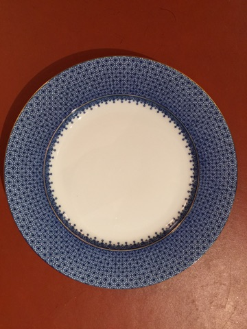 William-Wayne & Co. Exclusives   Blue Mottehedah Dinner Plate $85.00
