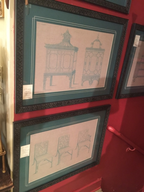 William-Wayne & Co. Exclusives   Chinese Chippendale Cabinet Print $490.00