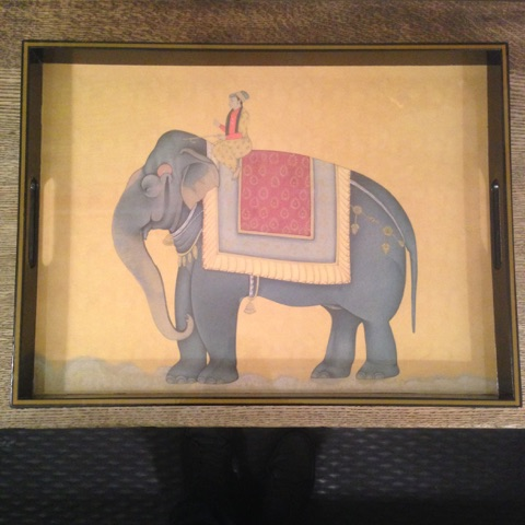 William-Wayne & Co. Exclusives   Laquer Elephant Tray $110.00