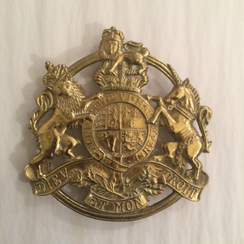 William-Wayne & Co. Exclusives   Vintage Kings Arms Brass Trivet $125.00
