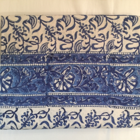 $47.50 Blue & White Indian Throw/Tablecloth