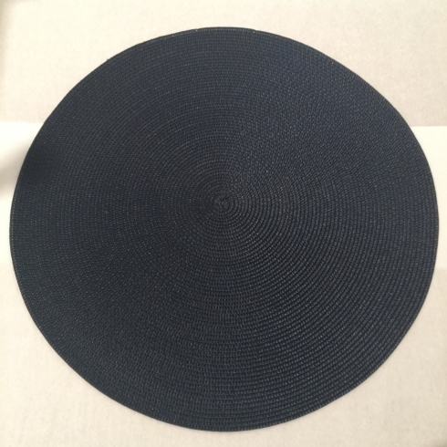 $22.50 Round Navy Placemat