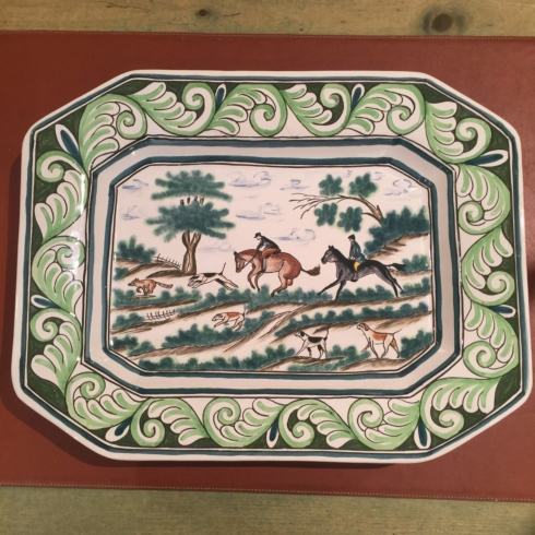 William-Wayne & Co. Exclusives   Century Hunt Horse Platter $250.00