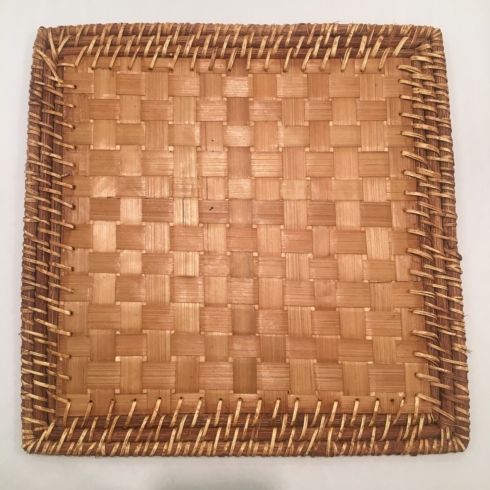 Straw and Rattan Square Placemat collection with 1 products