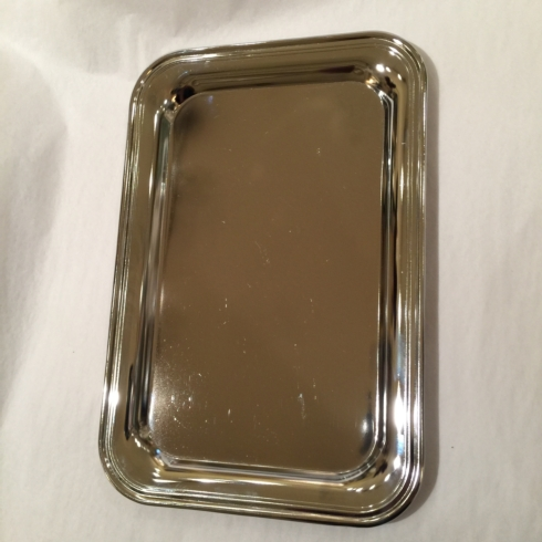 $25.00 Small Nickel Plated Rectangle Tray