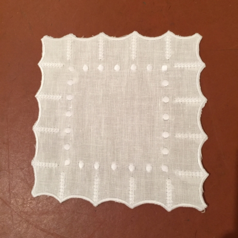 William-Wayne & Co. Exclusives   Set of 12 Linen Cocktail Napkins with Dots $45.00
