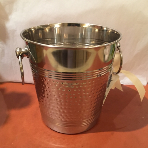 William-Wayne & Co. Exclusives   Nickel Plated Hammered Ice Bucket $165.00