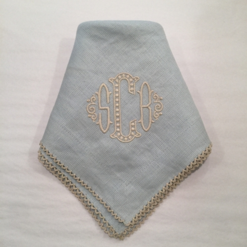 Linen Monogram Dinner Napkin - Custom collection with 1 products