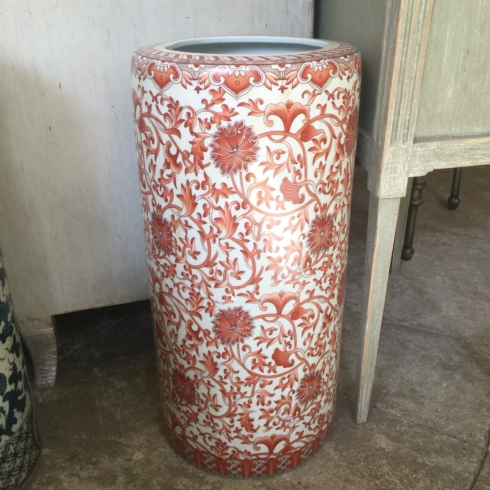 William-Wayne & Co. Exclusives   Red Coral Umbrella Stand $300.00