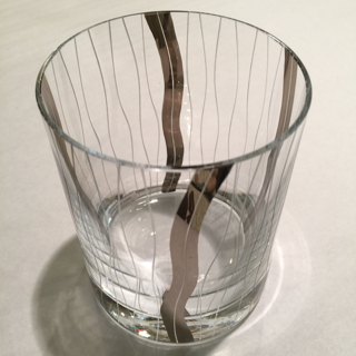 Bar Glass with Silver Detailing collection with 1 products