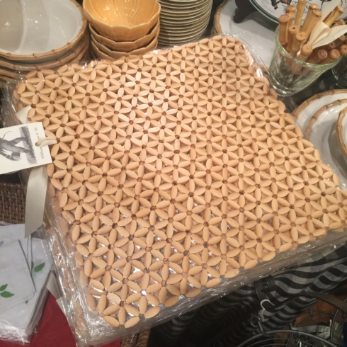 $27.50 Sliced Bamboo Table Mat