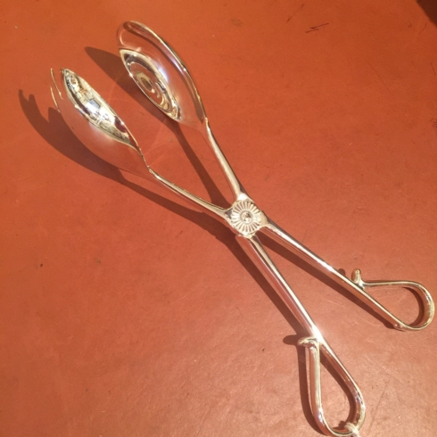 $27.50 Silver Plated Salad Tongs