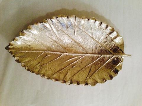 William-Wayne & Co. Exclusives   Nickel Plated Large Leaf Dish $40.00