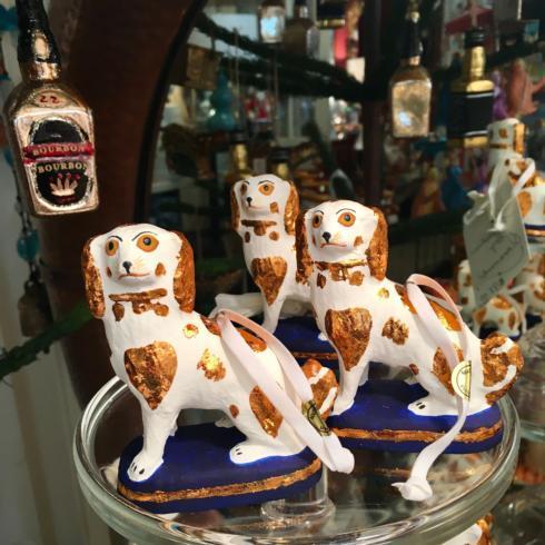 $22.50 Stafforshire Dog Ornament