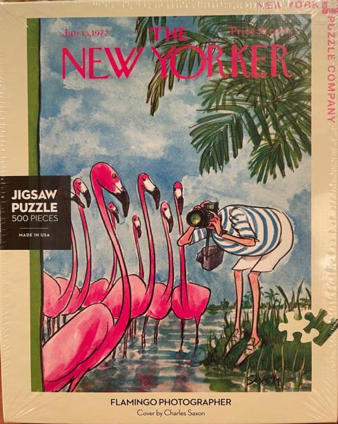 Flamingo Photographer 500 Pieces Puzzle