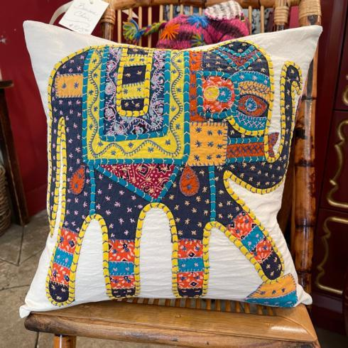 $175.00 Embroidered Elephant Pillow