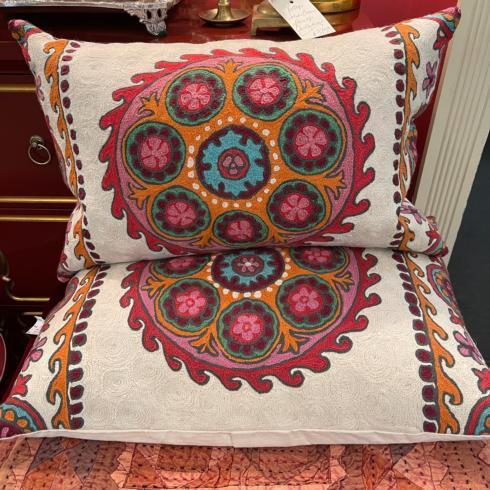 $190.00 Embroidered Lumbar Pillow