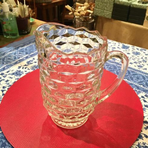 Vintage Cut Glass Pitcher