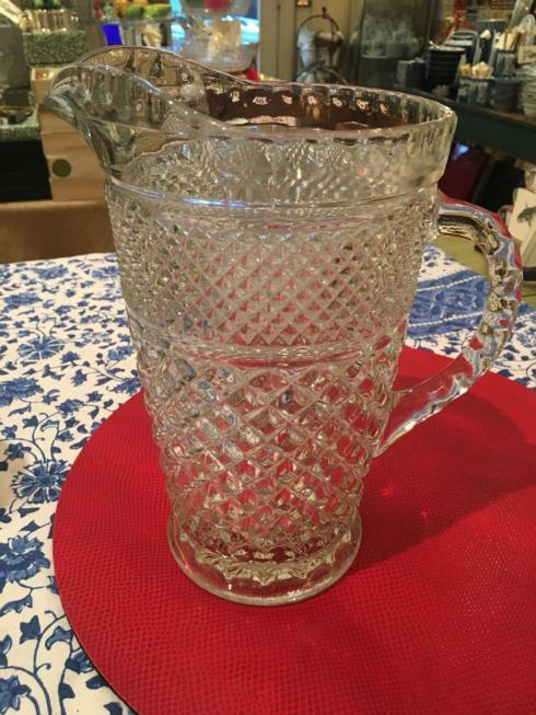 $225.00 Large Cut Glass Vintage Pitcher