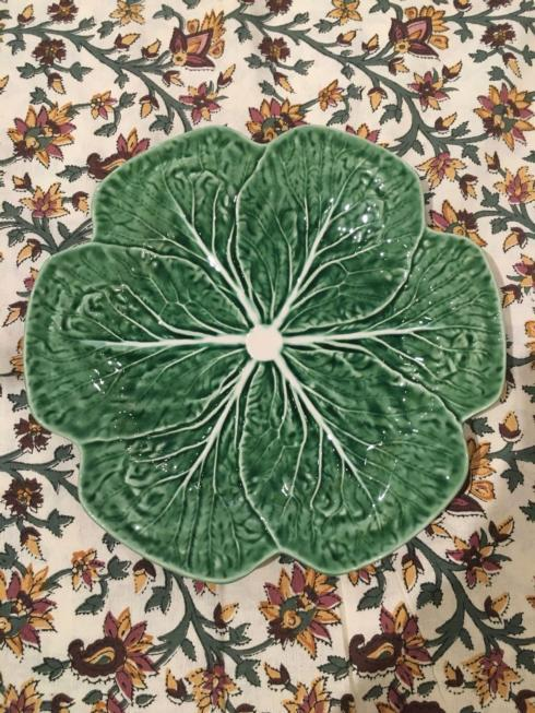 $37.50 Cabbage Green Ceramic Dinner Plate